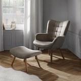 Sessel Merlin inkl. Hocker - Hellbraun, MODERN, Holz/Textil (71/98/80cm) - Mömax modern living