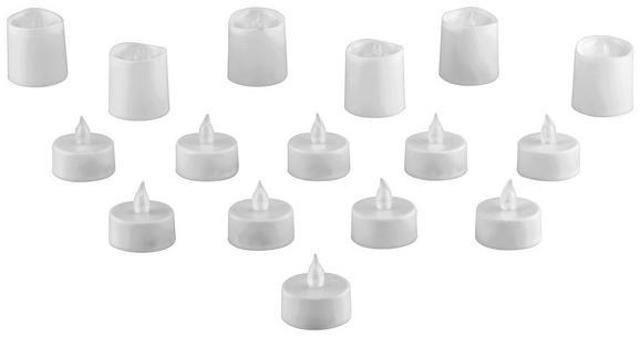Set Led-sveč Theresa - bela, umetna masa (3,8cm) - Mömax modern living