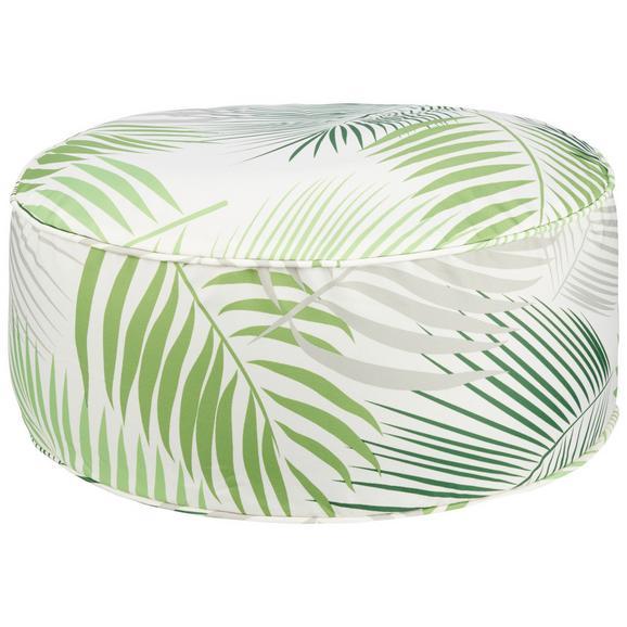 Pouf Medellin - verde, textil (50/20cm) - Modern Living