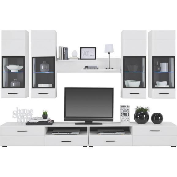 Dnevni Regal Attac 4 - črna/bela, Moderno, umetna masa/steklo (280/195/45cm) - Mömax modern living