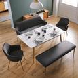 Armlehnstuhl in Grau 'Chrisi' - Buchefarben/Grau, MODERN, Holz/Textil (58/86/58cm) - Bessagi Home