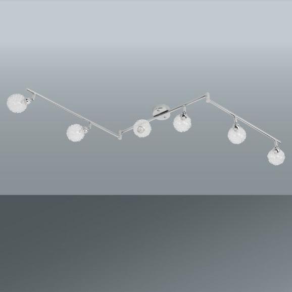 Strahler Mia, max. 6x33 Watt - Chromfarben, MODERN, Glas/Metall (145/19cm) - Mömax modern living