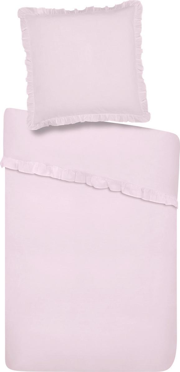 Bettwäsche Rüschen in Rosa, ca. 135x200cm - Rosa, ROMANTIK / LANDHAUS, Textil (135/200cm) - Zandiara