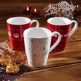 Vivo Kaffeebecher aus Porzellan 300 ml ''X-Mas'' - Rot/Weiß, KONVENTIONELL, Keramik - Vivo