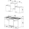 Küchenblock ECONOMY 150 - Eichefarben/Weiß, KONVENTIONELL, Holzwerkstoff (150/200/60cm) - Livetastic