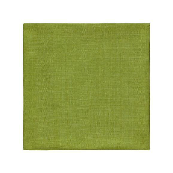 Párnahuzat Len Hatású - Zöld, konvencionális, Textil (40/40cm) - Mömax modern living
