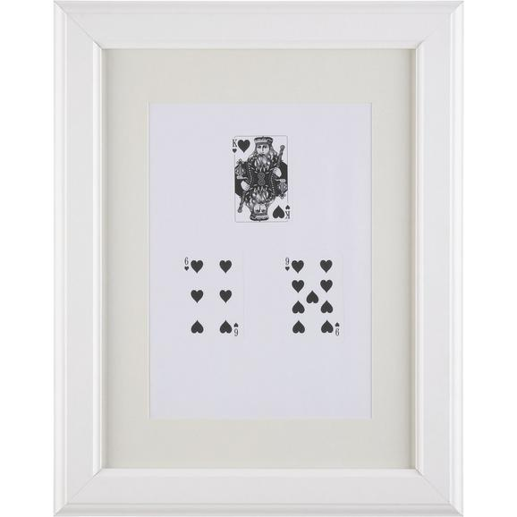 Képkeret Provence - Fehér, romantikus/Landhaus, Üveg/Fa (30/40/2cm) - Mömax modern living