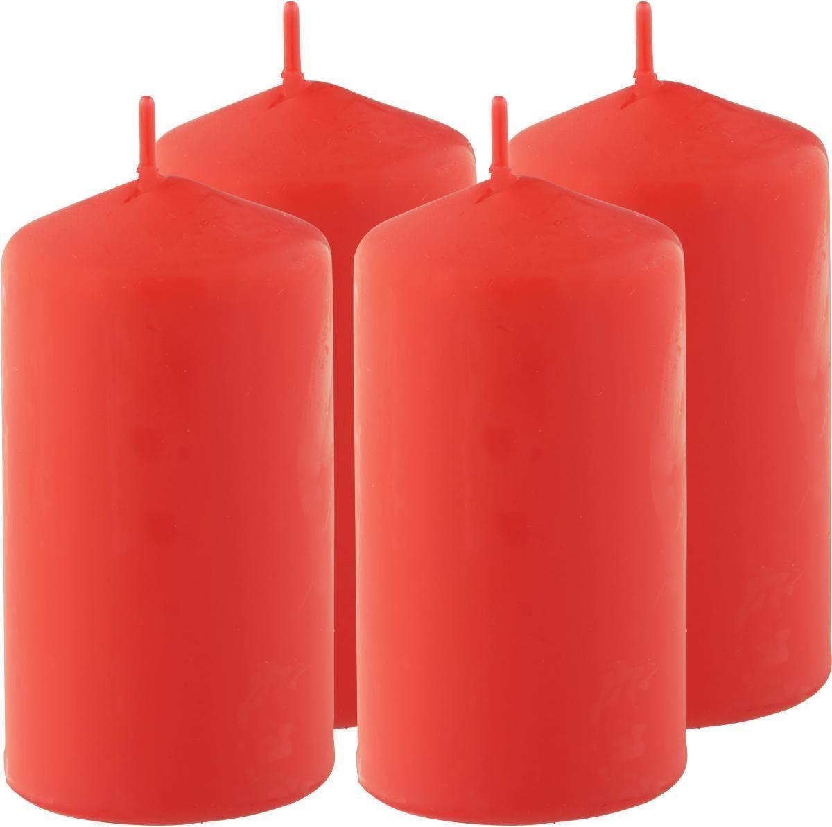 Stumpenkerzen Katrinja in mehreren Farben - Türkis/Rot (5/10cm) - MÖMAX modern living