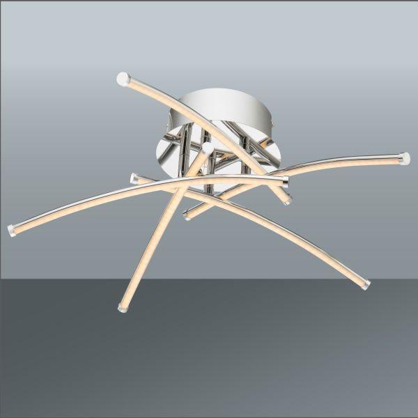 LED-Deckenleuchte Shanghai, max. 20 Watt - KONVENTIONELL, Kunststoff/Metall (45/15,5cm)