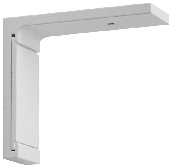 Träger Style Kurz Weiß - Weiß, Metall (6,5cm) - Premium Living