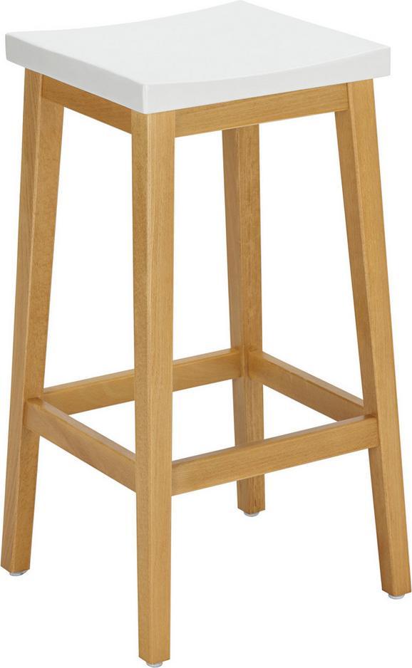 Barhocker in Weiß/Eichefarben - Eichefarben/Weiß, MODERN, Holz/Holzwerkstoff (31,9/74/36,9cm) - Zandiara