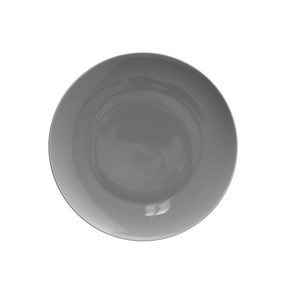 Dessertteller Sandy aus Keramik Ø ca. 20,4cm - Grau, KONVENTIONELL, Keramik (20,4/1,8cm) - Mömax modern living