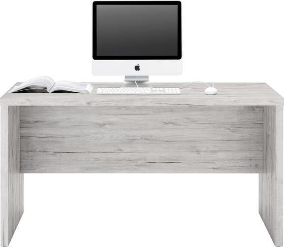 Íróasztal Schema Beton - Antracit/Szürke, modern, Faalapú anyag (140/74/69cm)