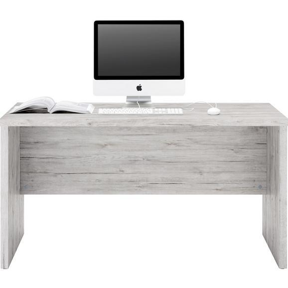 Schreibtisch in Grau - Anthrazit/Grau, MODERN, Holzwerkstoff (140/74/69cm) - Mömax modern living
