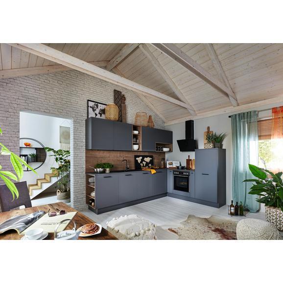 Eckküche Plus - Dunkelgrau/Grau, MODERN, Holzwerkstoff (307/215cm) - Nolte Küchen