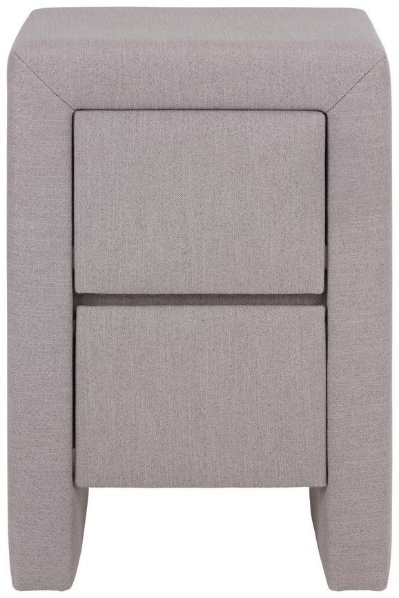 Nachtkästchen Grau - Beige, Holz (40/59/40cm) - Premium Living