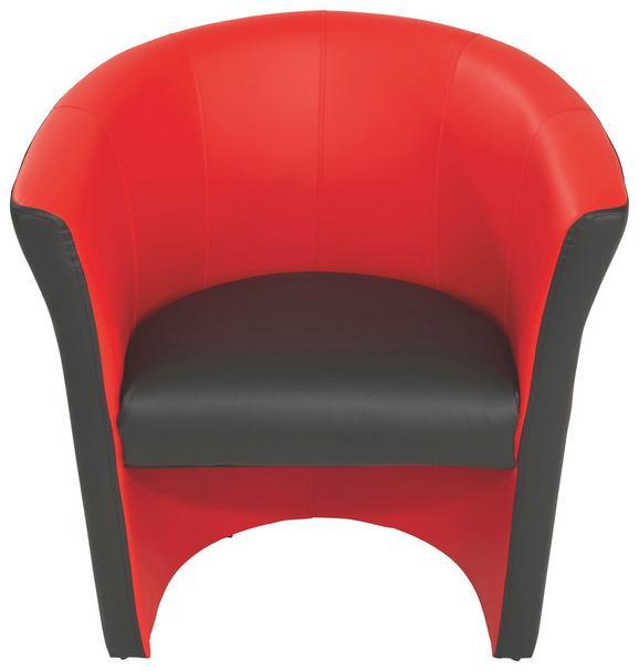 Fotelja Rainbow - crna/crvena, Modern (69/76/59cm) - Ombra