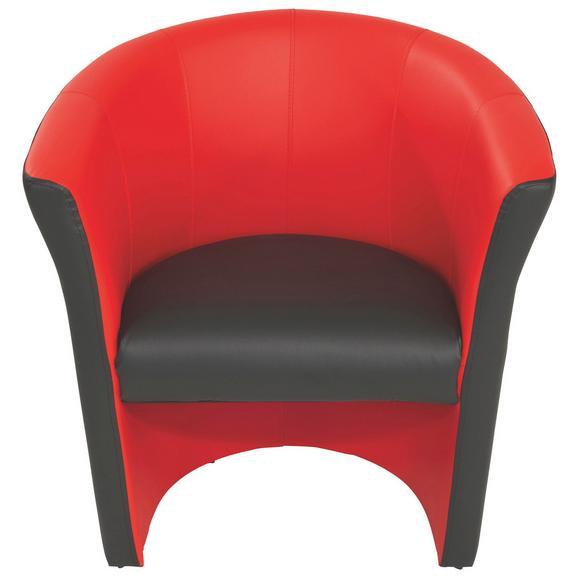 Fotelja Rainbow - crvena/crna, Modern (69/76/59cm) - Ombra