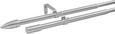 Vorhangstangenset Aktion, ca. 120-210cm - Edelstahlfarben, Metall (120-210cm) - Mömax modern living