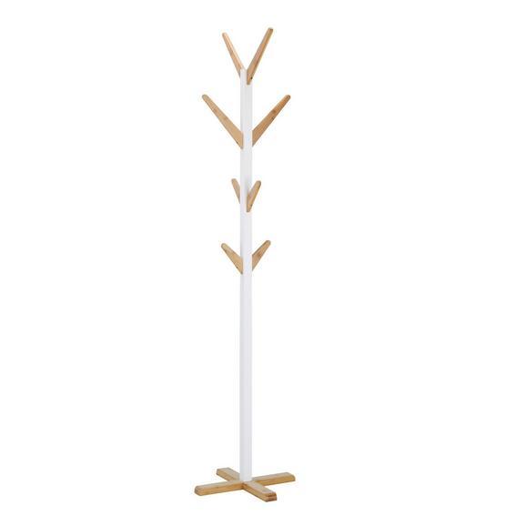 Kleiderständer in Braun/Weiß Bambus - Braun/Weiß, MODERN, Holz/Holzwerkstoff (43/185/43cm) - Mömax modern living
