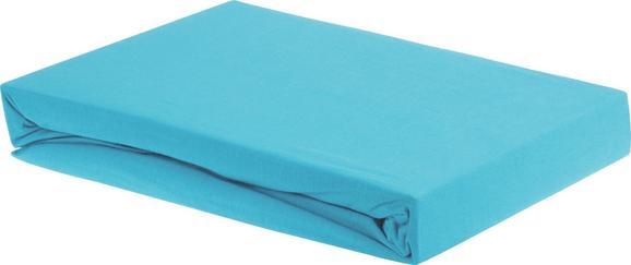 Spannleintuch Elasthan ca. 100x200cm - Petrol, Textil (100/200/28cm) - Premium Living