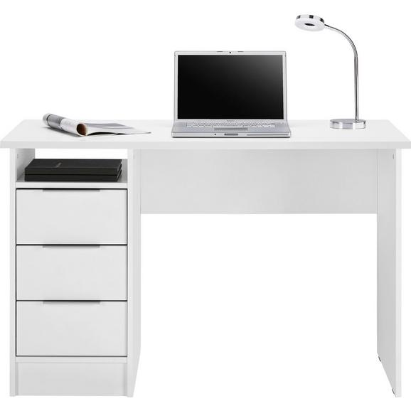 Eckschreibtisch weiß matt  Schreibtisch in Weiß matt