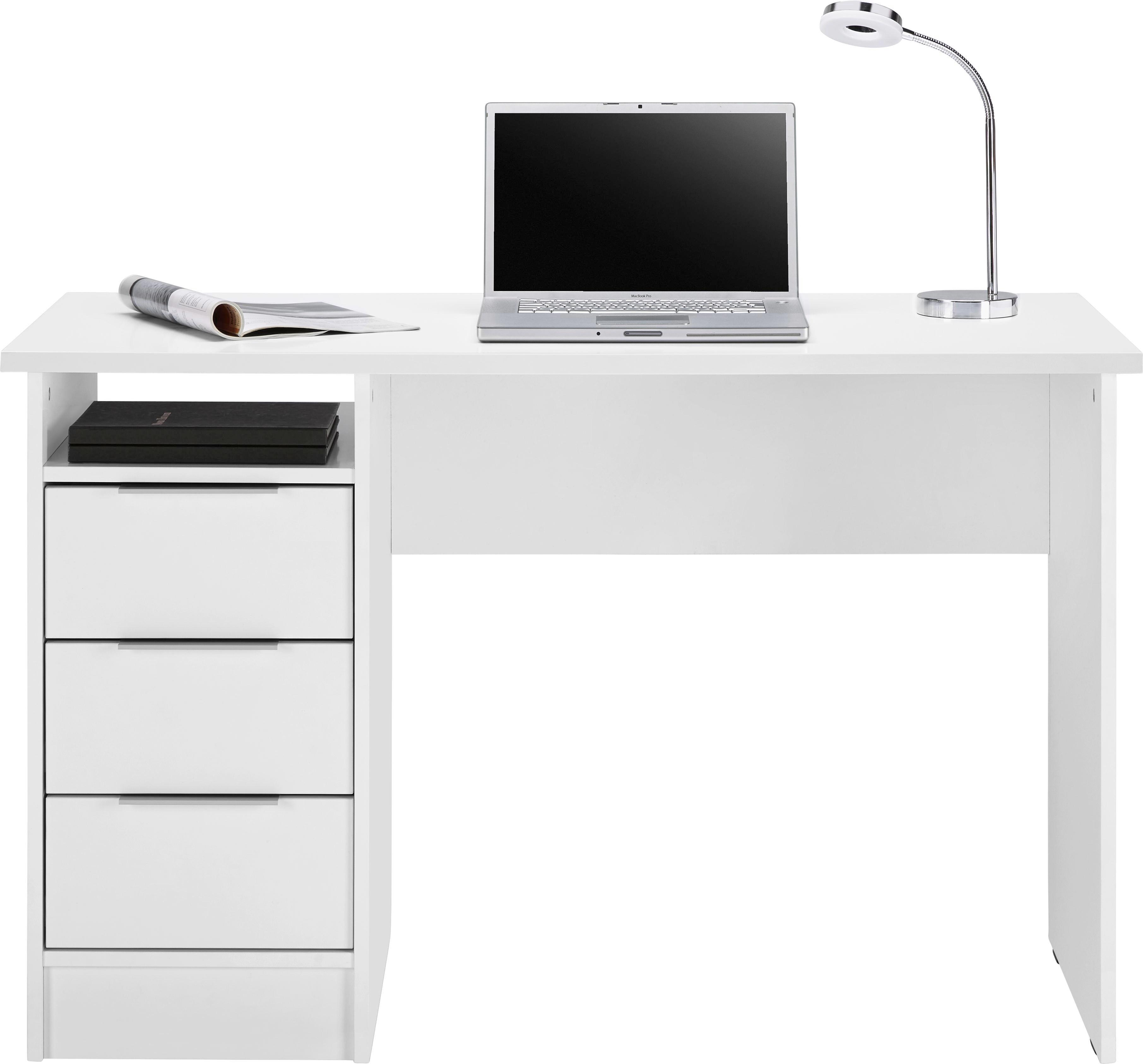 Eckschreibtisch weiß matt  Schreibtisch in Weiß matt Laminiert online kaufen ➤ mömax