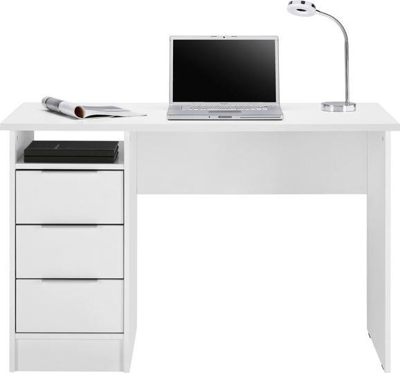 Schreibtisch in Weiß matt Laminiert - Chromfarben/Weiß, Holzwerkstoff/Metall (120/76/55cm) - MÖMAX modern living