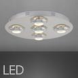 LED-Deckenleuchte max. 5 Watt 'Niklas' - Chromfarben, MODERN, Kunststoff/Metall (50/7,5cm) - Bessagi Home