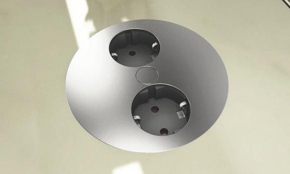 Element Z Vtičnicami Twist - črna/nerjaveče jeklo, Romantika, umetna masa (10,5cm)