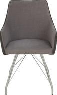 Stuhl in Grau - Chromfarben/Grau, MODERN, Textil/Metall (54/85,5/64cm) - Modern Living