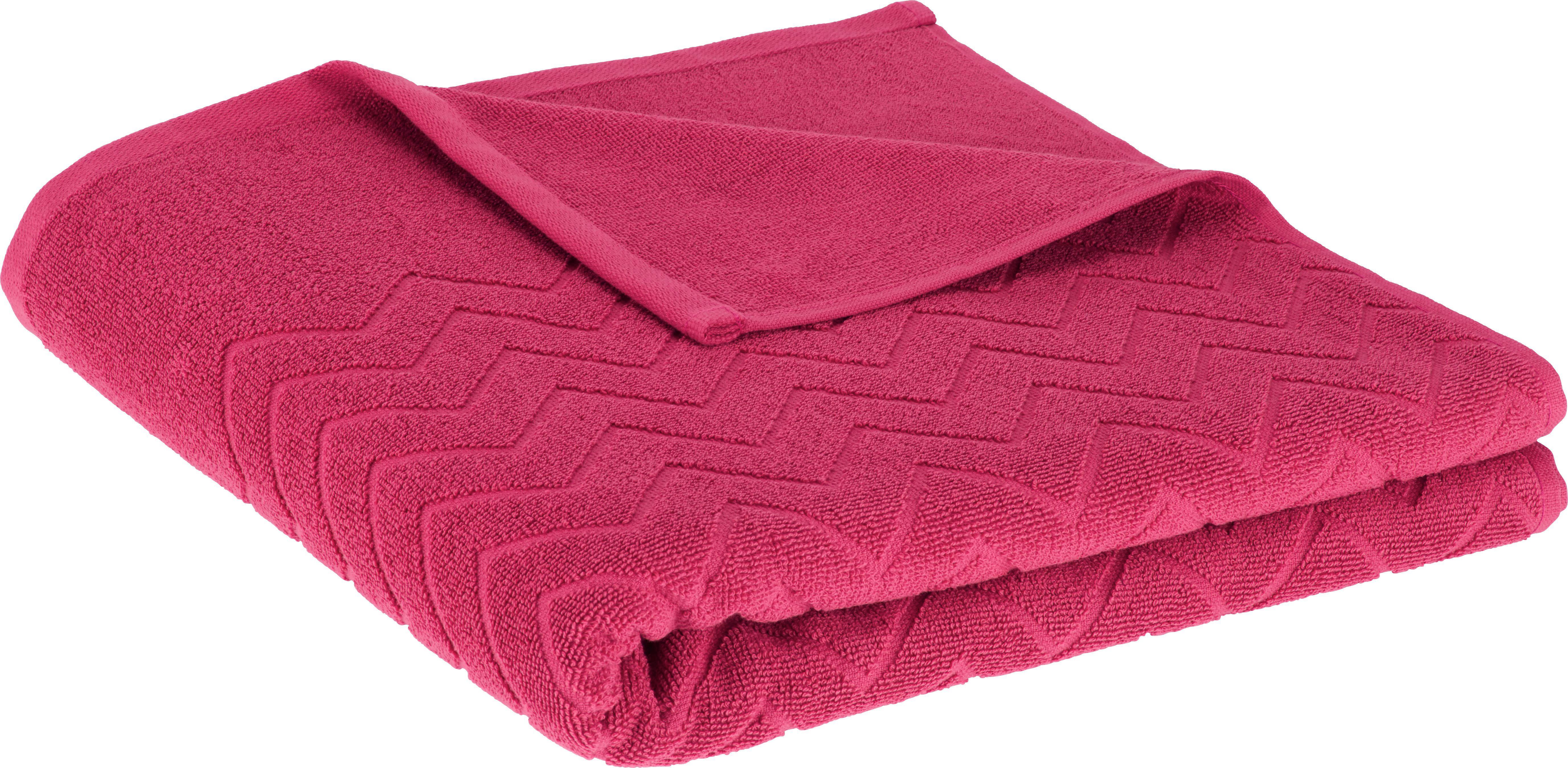 Duschtuch Peter in Pink - Pink, Textil (70/140cm) - MÖMAX modern living