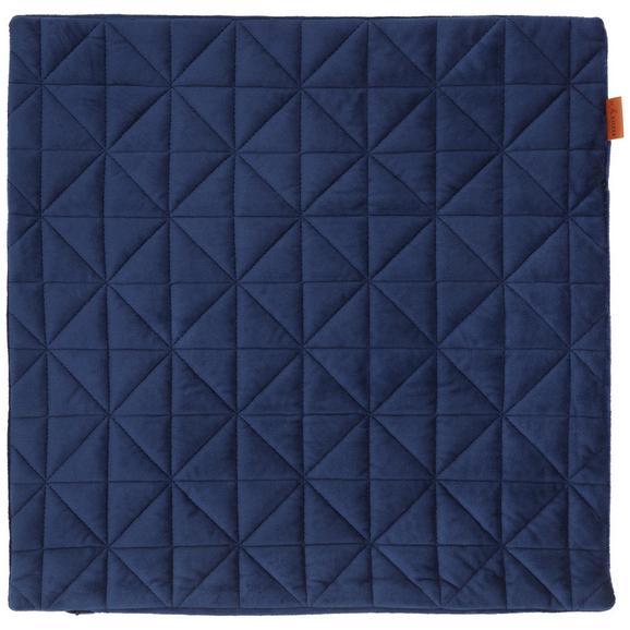Kissenhülle Mary aus Samt ca. 45x45cm - Blau, MODERN, Textil (45/45cm) - Mömax modern living