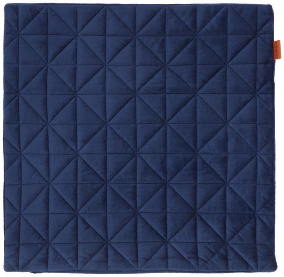 Kissenhülle Mary Samt Blau 45x45cm - Blau, MODERN, Textil (45/45cm) - Mömax modern living