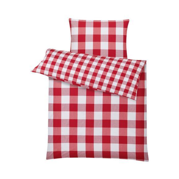 Lenjerie De Pat Zams - alb/roșu, Romantik / Landhaus, textil (140/200cm) - Zandiara