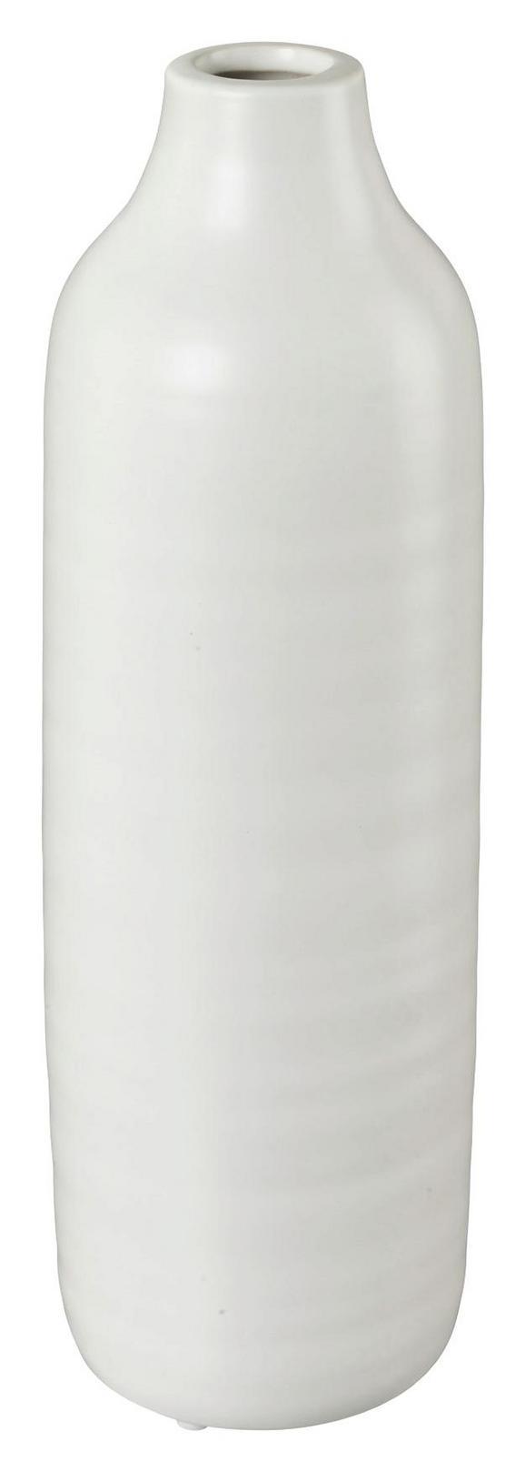 Dekovase Presence Weiß 10x30 cm - Weiß, LIFESTYLE, Keramik (10/30cm)