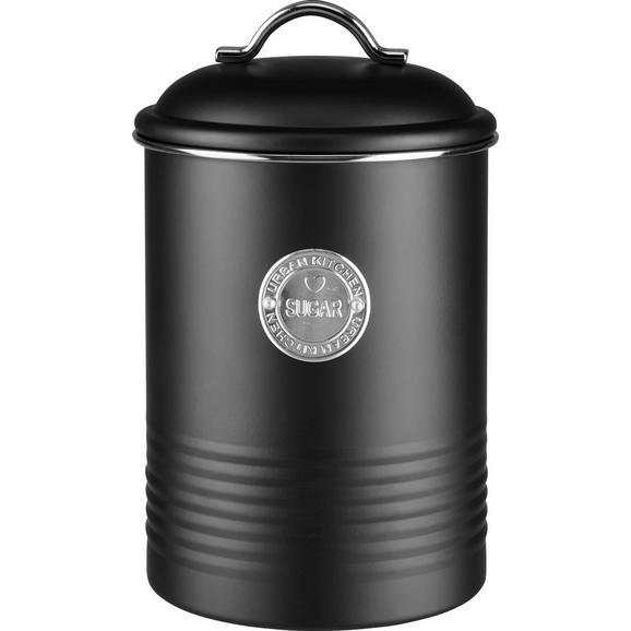 Cutie Alimentară Urban - argintiu/negru, Modern, metal (14,5/22cm) - Mömax modern living