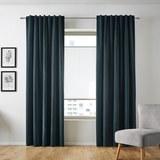 Samtvorhang Smilla ca.135x245cm - Petrol, Textil (135/245cm) - Mömax modern living