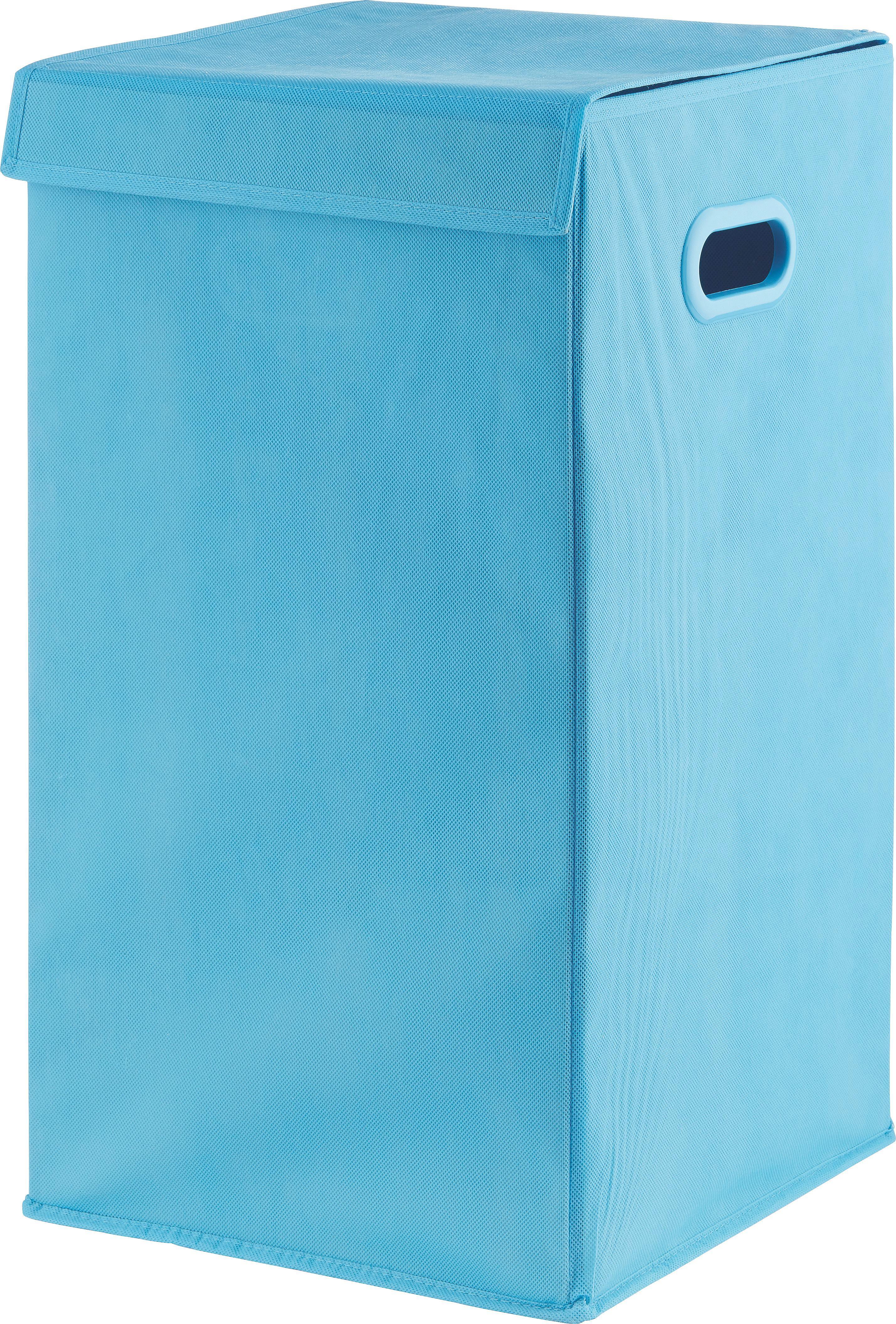 Wäschekorb Elenor in Blau, ca. 31x31x56cm - Türkis, KONVENTIONELL, Karton/Kunststoff (31/31/56cm) - MÖMAX modern living