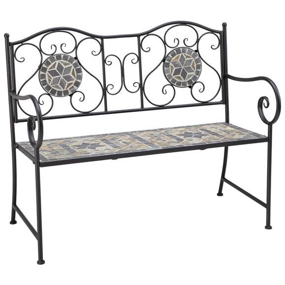 gartenbank grace in schwarz wei hellgrau online kaufen m max. Black Bedroom Furniture Sets. Home Design Ideas