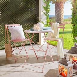 Set Za Balkon Nice - roza/svetlo roza, kovina - Mömax modern living