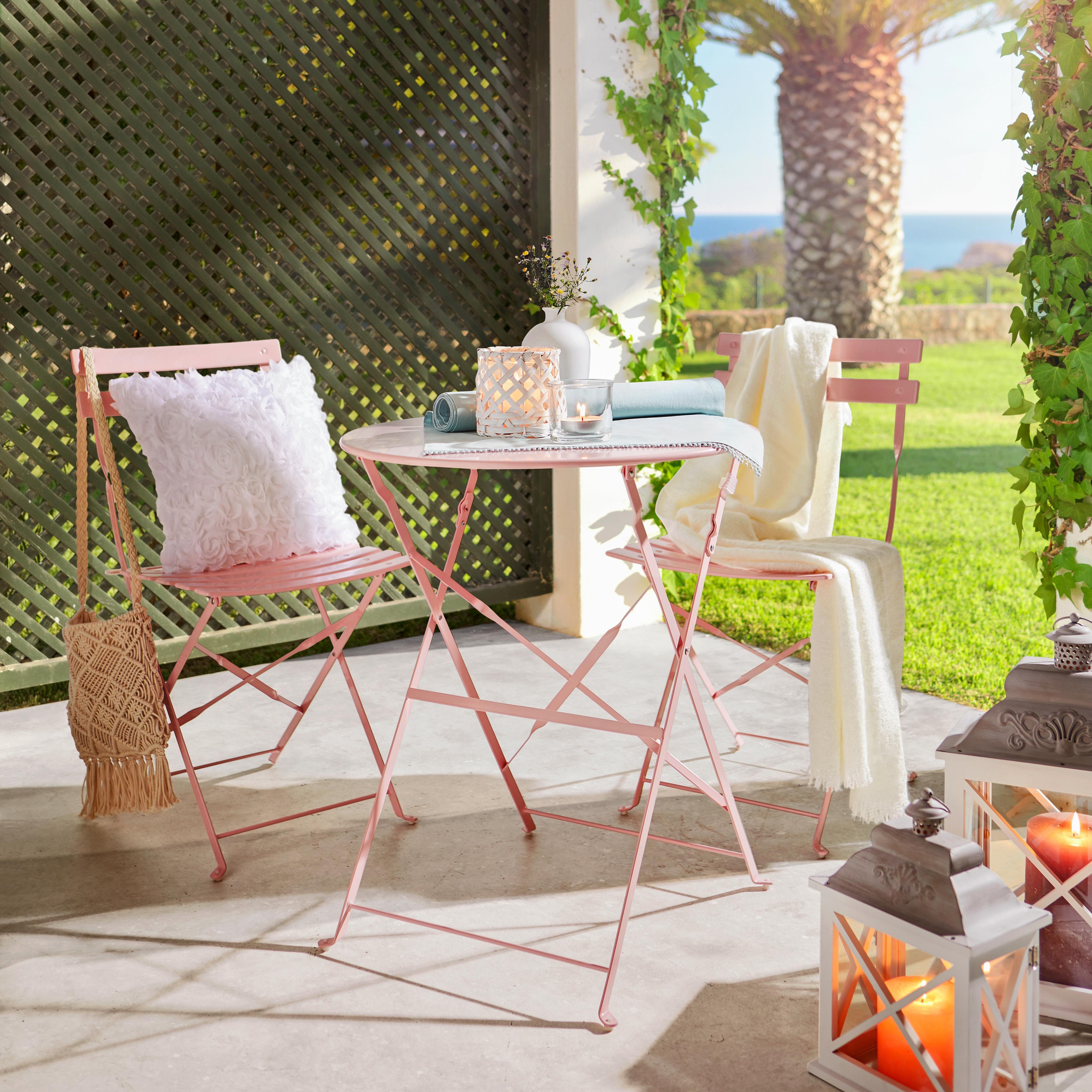 Set Za Balkon Nice - roza/svetlo roza, kovina (//null) - Mömax modern living
