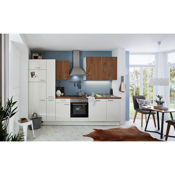 k chenblock eco artwood wei eichefarben online kaufen m max. Black Bedroom Furniture Sets. Home Design Ideas