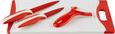 Schneidebrett Conny in Rot, 4-teilig - Rot/Weiß, Kunststoff/Metall (20/0,9/29cm) - Mömax modern living