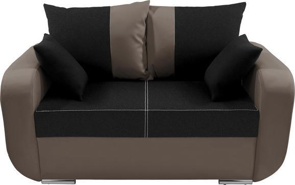 Dvosjed Sofa Faro - boje blata/boje kroma, Konventionell, tekstil/drvo (150/90/92cm)