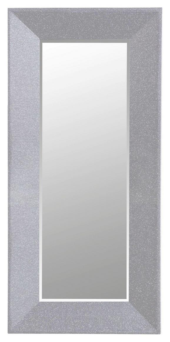 Stensko Ogledalo Glamour - srebrna, Trendi, leseni material (66/140/5cm)