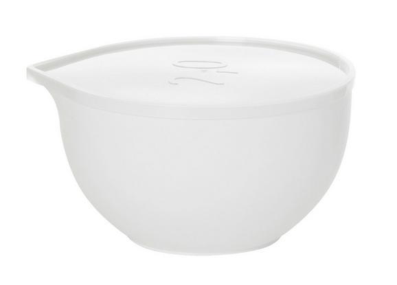 Keverőtál Tetővel Kaija - áttetsző/fehér, műanyag (2l) - MÖMAX modern living