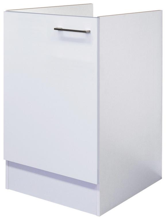 Spülenunterschrank Weiß - Edelstahlfarben/Weiß, MODERN, Holzwerkstoff/Metall (50/82/60cm)