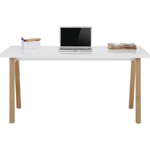 Schreibtisch in wei eichefarben online kaufen m max for Schreibtisch holz modern