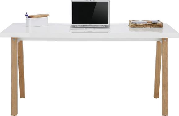 Schreibtisch Weiß/Eichefarben - Eichefarben/Weiß, MODERN, Holz/Holzwerkstoff (150/74/70cm) - Premium Living